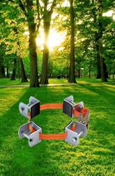 小号镀锌金属树木固定器(钢管专用)