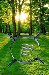 绿色金属抱箍树木支撑固定器